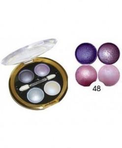 БД DELICATE Тени для век 4-х цветные №48 Сиренево-фиолетовые