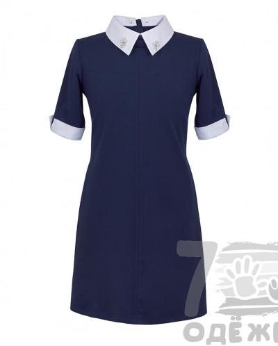 Платье школьное с коротким рукавом