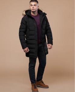 Современная черная куртка молодежная модель 25050