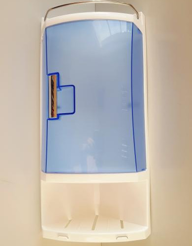 Угловой шкафчик для ванной с 2-мя открытыми полками и 1-ой п