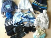 Пакет шапочек 0-2 года