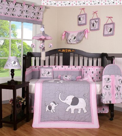 Boutique Pink Gray Elephant   10 предметов