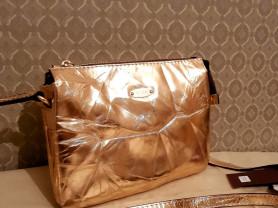 Новая сумка кроссбоди Gaude кожа бронза