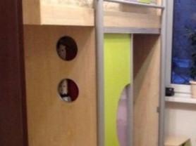 Кровать Чердак+ступеньки (хранение)+книжая полка