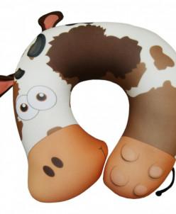 Подушка под шею Игрушка Корова Шоколад и нежная)