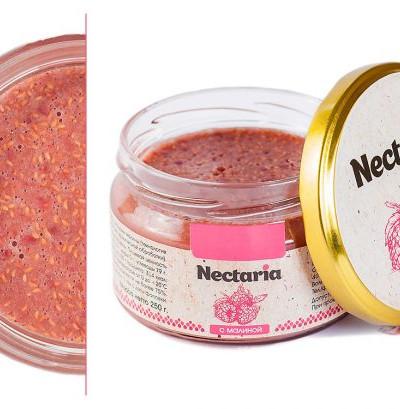 Взбитый мед Nectaria с малиной в наличии1 банка
