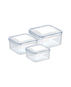 Контейнер FRESHBOX 3 шт., 0.4 л, 0.7 л, 1.2 л, квадратный