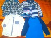 Пакет одежды для мальчика,кофточки и рубашки.