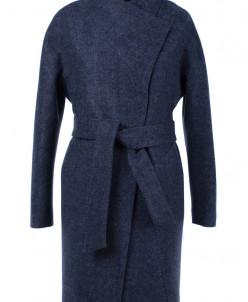 01-6267 Пальто женское демисезонное (пояс) Валяная шерсть Си