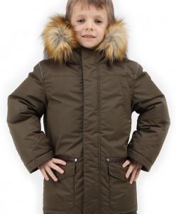 Пуховая куртка с опушкой из искусственного меха Talvi