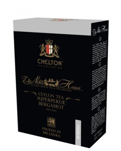 Чай Челтон «Благородный Дом» с маслом бергамота 100гр карт.