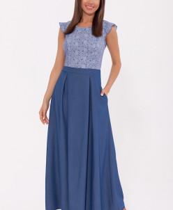 70740 Платье (OleGra)Голубой/джинс