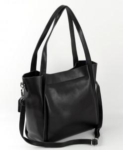 Женская кожаная сумка 1811 Черный