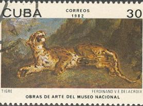 Марка 30 Куба 1982 год Correos Tigre Тигр