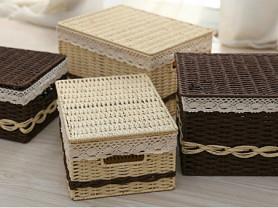Японские плетеные корзинки для хранения.