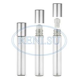 Роллер (10 мл) + металлическая крышка (серебро)
