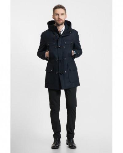 Пальто зимнее мужское 036-13У синее Gotti (Беларусь)