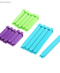 Набор зажимов для пакета 6 см; 8 см; 12,5 см, 15 шт, цвет МИ