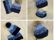 Новый снуд и шапочка с помпоном из меха