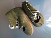 Замшевые открытые ботинки на шнурках 12см