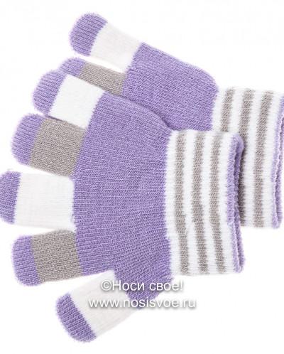 Цветные пальчики 6с177/2 перчатки детские (сиреневый)