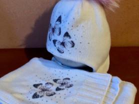 "Birimbi Италия ""бабочки"" шикарные шапка+шарф"