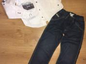 Рубашка Roberto Cavalli и джинсы Diesel р.122