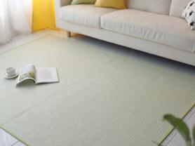 Светло зеленый безворсовый ковер Fresh 100 x 150см