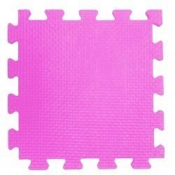 Мягкий пол 33*33*0,9 см розовый, 9 деталей