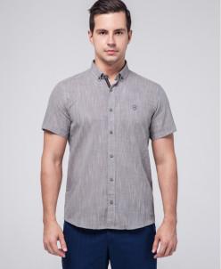 Серая рубашка мужская Rotelli брендовая модель 480/19