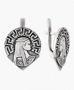 Серьги из серебра Афина Юмила