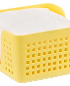"""Салфетница 15*15*8,7 см """"Лофт"""" лимон квадратная (модель - 65"""