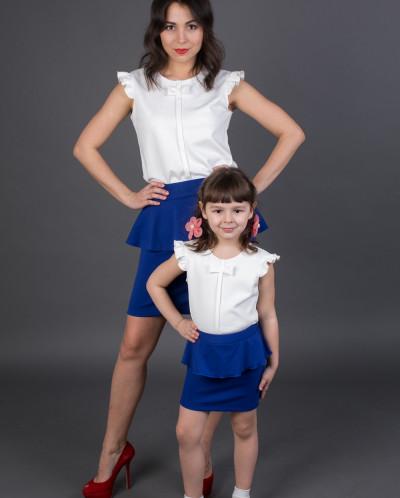Взрослая юбка с баской