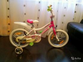 Велосипед для девочки giant 16 дюймовый
