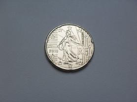 Монета 20 Евро Центов 2010 год Франция