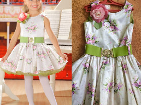 Платье маленькая леди 110/120 см, маркировка 122.