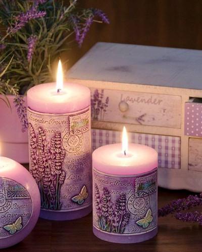 свеча Лавандовый прованс Шар 100мм
