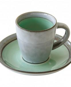 Чашка с блюдцем Origin (салатовая) без инд.упаковки