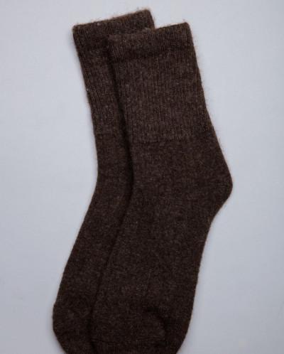 Носки из шерсти 100% шоколадные, Монголия