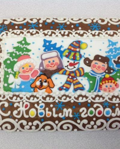 """2200 Открытка """"С Новым годом!"""" в подарочной коробке"""