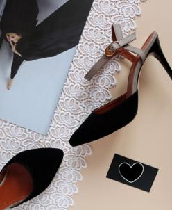 Замшевые элегантные туфли.