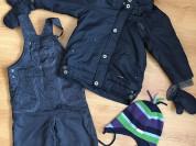 Куртка Confetti и полукомбез Mothercare р.92