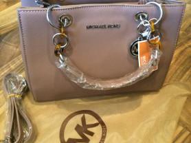 Новая светлая кожаная сумка Michael Kors