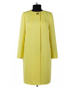 12-0179 Пальто облегченное Жаккард Лимон