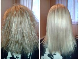 Кератиновое выпрямление волос и лечение волос ботоксом