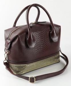 Женская кожаная сумка W308 Кофе