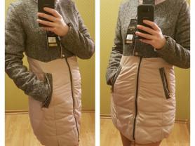 Новое комбинированное осеннее весеннее пальто 42