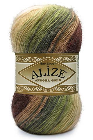 Пряжа  ALIZE ANGORA GOLD BATIK 10% мохер10% шерсть 80% акрил