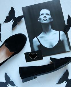 Замшевые стильные туфли - слиперы. New Collection