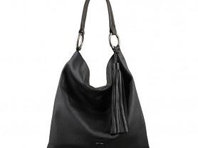 Новая большая кожаная сумка - хоббо Италия